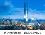skyline of financial district... | Shutterstock . vector #1030839829