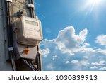 electric meter  dashboard ...   Shutterstock . vector #1030839913