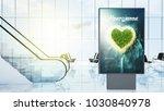 travel advertising on airport... | Shutterstock . vector #1030840978