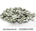 pile of 100 dollar bill wads on ... | Shutterstock . vector #1030841530