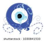 artistic blue evil eye vector   ... | Shutterstock .eps vector #1030841533