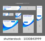 six web banners standard sizes... | Shutterstock .eps vector #1030843999