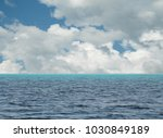 blue sky with clouds and sea | Shutterstock . vector #1030849189