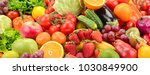 panoramic collection fresh... | Shutterstock . vector #1030849900