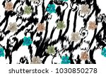 seamless pattern    tiger skin... | Shutterstock .eps vector #1030850278