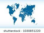 world map vector | Shutterstock .eps vector #1030851220