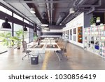 modern cozy loft office... | Shutterstock . vector #1030856419