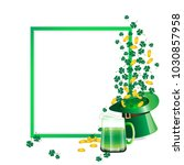 green frame as copy space... | Shutterstock .eps vector #1030857958