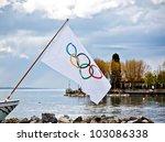 Lausanne April 20  Olympic Fla...