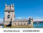 view of belem tower on the...   Shutterstock . vector #1030864840
