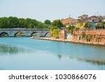 the bridge of tiberius in... | Shutterstock . vector #1030866076