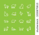 animals icon set | Shutterstock .eps vector #1030870813