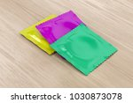 three different condoms on... | Shutterstock . vector #1030873078
