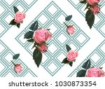 floral seamless background... | Shutterstock .eps vector #1030873354