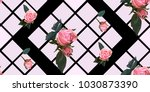 floral seamless background... | Shutterstock .eps vector #1030873390