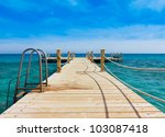 jetty to paradise | Shutterstock . vector #103087418