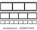 Set Of Film Frame  Vector...