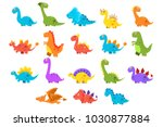 dinosaurs set  variety species... | Shutterstock .eps vector #1030877884