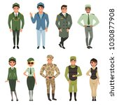 military uniforms set  military ... | Shutterstock .eps vector #1030877908