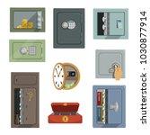 different types of safes set ... | Shutterstock .eps vector #1030877914