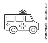 ambulance sign icon | Shutterstock .eps vector #1030880110