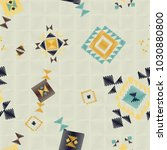 geometric embroidery style....   Shutterstock .eps vector #1030880800