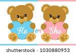 baby shower invitation gender... | Shutterstock .eps vector #1030880953