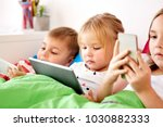 childhood  technology and... | Shutterstock . vector #1030882333
