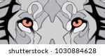 eyes of lion vector file | Shutterstock .eps vector #1030884628