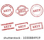 exit stamps on white | Shutterstock .eps vector #1030884919