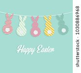 happy easter holiday greeting... | Shutterstock .eps vector #1030886968