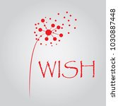 red dandelion background  ... | Shutterstock .eps vector #1030887448