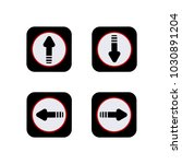 arrow sign icon up  down left... | Shutterstock .eps vector #1030891204