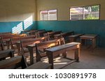 an ordinary classroom in an... | Shutterstock . vector #1030891978