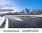 empty road with modern building | Shutterstock . vector #1030893040