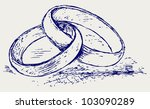 sketch pencil. wedding rings | Shutterstock .eps vector #103090289