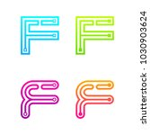 letter f colorful logotype with ... | Shutterstock .eps vector #1030903624