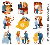developing relations set with... | Shutterstock .eps vector #1030903933