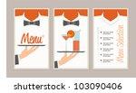 menu retro vintage style... | Shutterstock .eps vector #103090406
