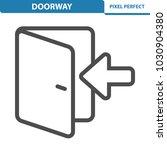 doorway icon. professional ... | Shutterstock .eps vector #1030904380