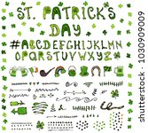 st. patrick s day hand drawing...   Shutterstock . vector #1030909009