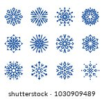 snowflakes icon collection 1.... | Shutterstock . vector #1030909489