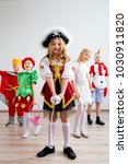 kids costume party | Shutterstock . vector #1030911820