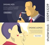smoking men women 2 horizontal... | Shutterstock .eps vector #1030913239