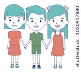 group of kids avatars characters | Shutterstock .eps vector #1030917880