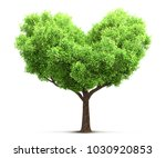 tree in heart shape 3d... | Shutterstock . vector #1030920853