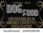vintage font typeface... | Shutterstock .eps vector #1030928938