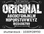 vintage font typeface...   Shutterstock .eps vector #1030928950