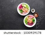 fresh seafood recipe. shrimp... | Shutterstock . vector #1030929178
