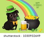 saint patricks day card with a... | Shutterstock .eps vector #1030932649
